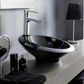 Lavabo Orbital Negro 400x170mm
