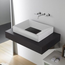 Lavabo Quadro Negro 550x400x100 mm