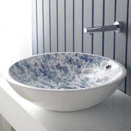 Lavabo Castellon Vintage Toile de Jouy Azul 430x145mm