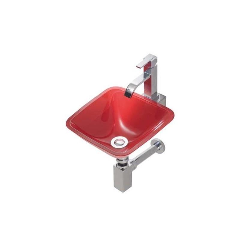 Lavabo cristal encimera de lavabo de vidrio vo ondyna - Encimera lavabo cristal ...