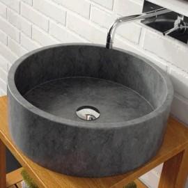 Lavabo en piedra Bali Negro 420x130 mm
