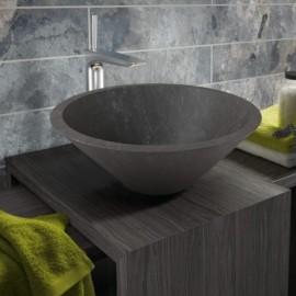 Lavabo en piedra Conico Negro 405x160mm
