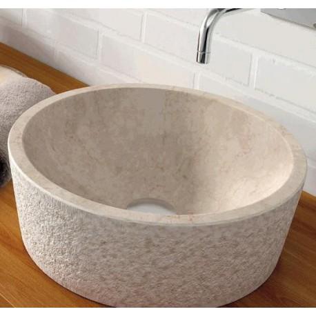 Lavabo en piedra Dual Beige 405x130mm