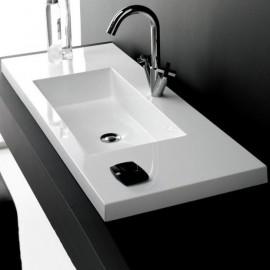 Lavabo en resina Colloto 1000x400x185mm