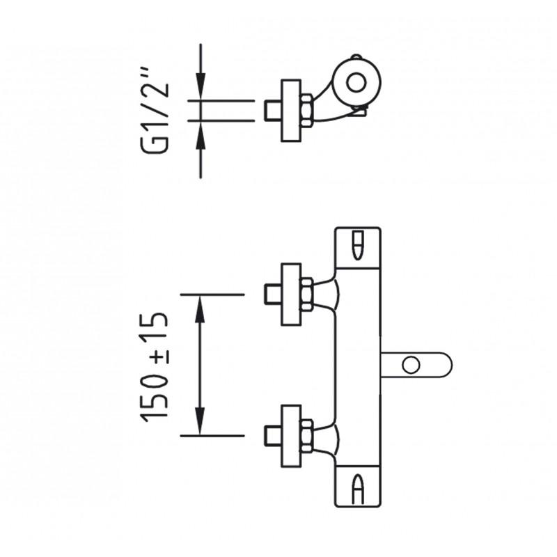 Grifo mezclador termostatico ba o ducha nine clever for Grifo mezclador ducha