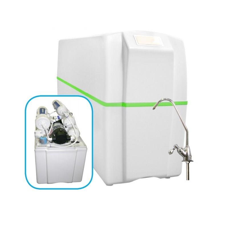 Equipo compacto de osmosis inversa 5 etapas con bomba ro 5b for Equipo de osmosis