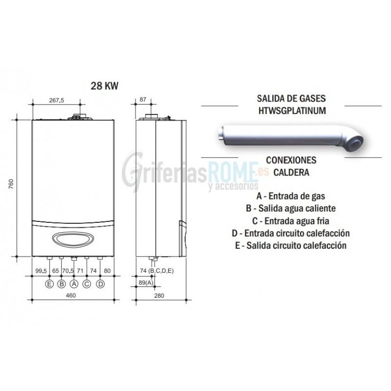 Caldera de condensaci n a gas platinum 28 butano propano - Calderas para gas natural ...