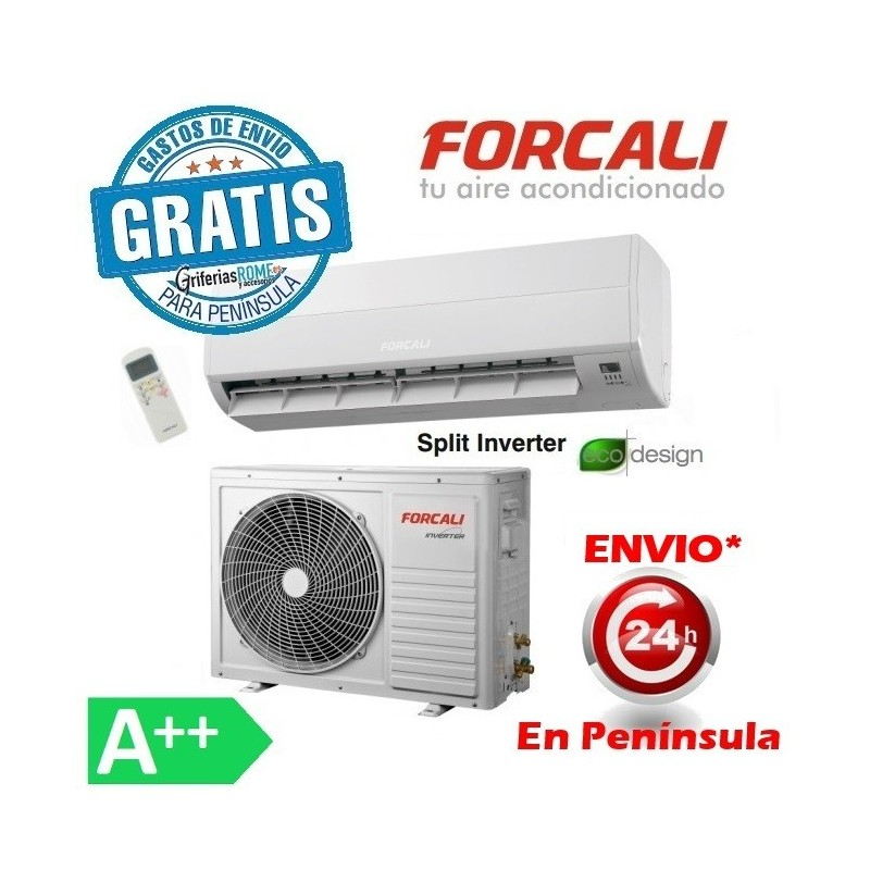 Aire acondicionado split 1x1 inverter forcali de for Aire acondicionado calor