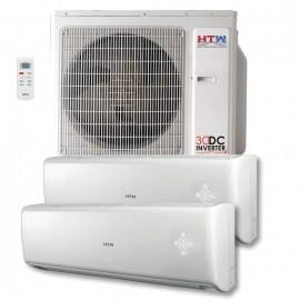 Aire acondicionado MultiSplit 2x1 Super Inverter HTW de 2,6 + 2,6 Kw Serie IX80