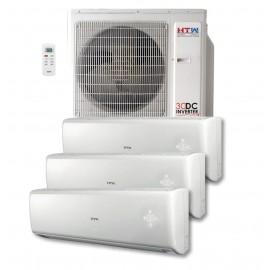 Aire acondicionado MultiSplit 3x1 DC Inverter HTW de 2,5 + 2,5 + 3,2 Kw Serie IX80