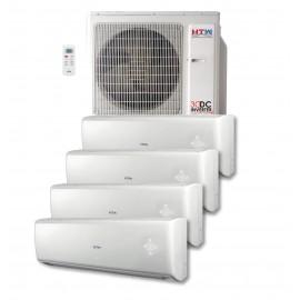 Aire acondicionado MultiSplit 4x1 DC Inverter HTW de 2,5 + 2,5 + 2,5 + 3,2 Kw Serie IX80