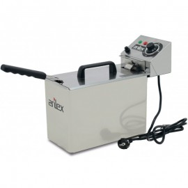 Freidora Eléctrica de 5 Litros Sin grifo 2 Kw (Con Potencia 2 Kw Monofásica)
