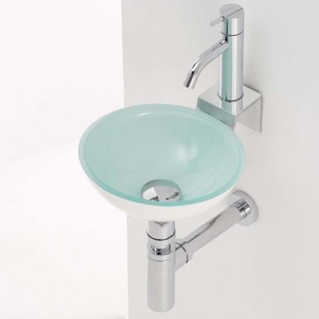 Lavabo en cristal rs3 270x100mm grifer - Encimera lavabo cristal ...