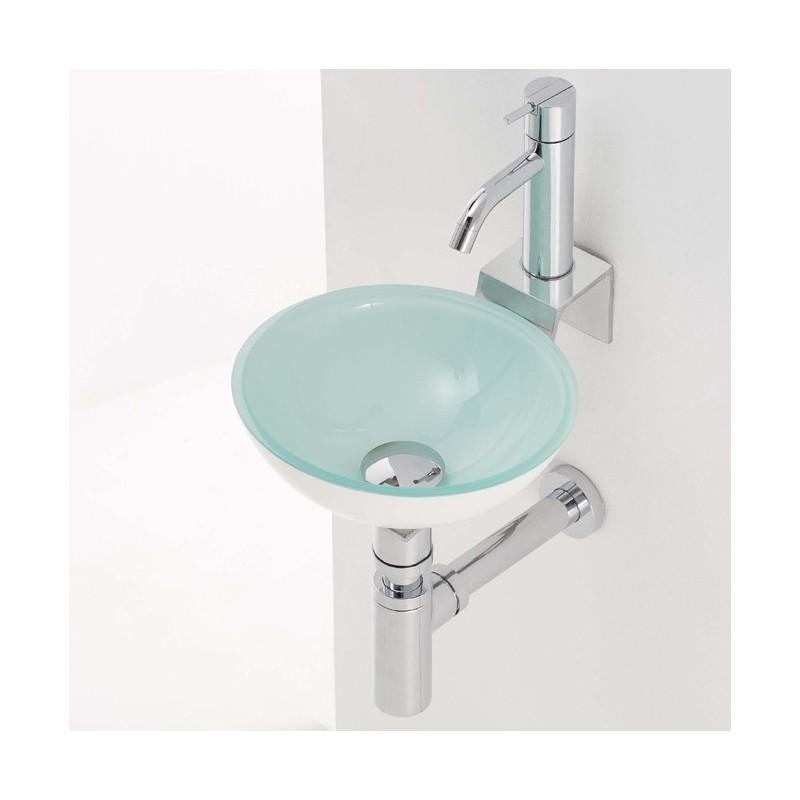 Lavabo en cristal rs3 270x100mm grifer as rome - Encimera lavabo cristal ...