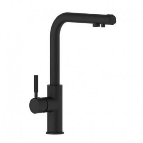 Grifo Monomando Fregadero Vertical Serie Osmosis Design Negro (Kalla)